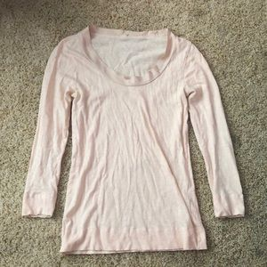 Jcrew light pink long sleeve